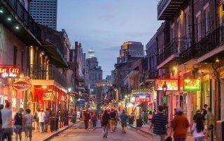 Бурбон стрит, Новый Орлеан. Bourbon Street, New Orleans