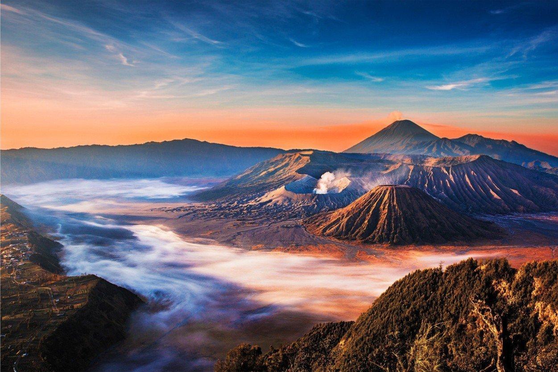 Вулкан Бромо, Индонезия. Mount Bromo, Indonesia