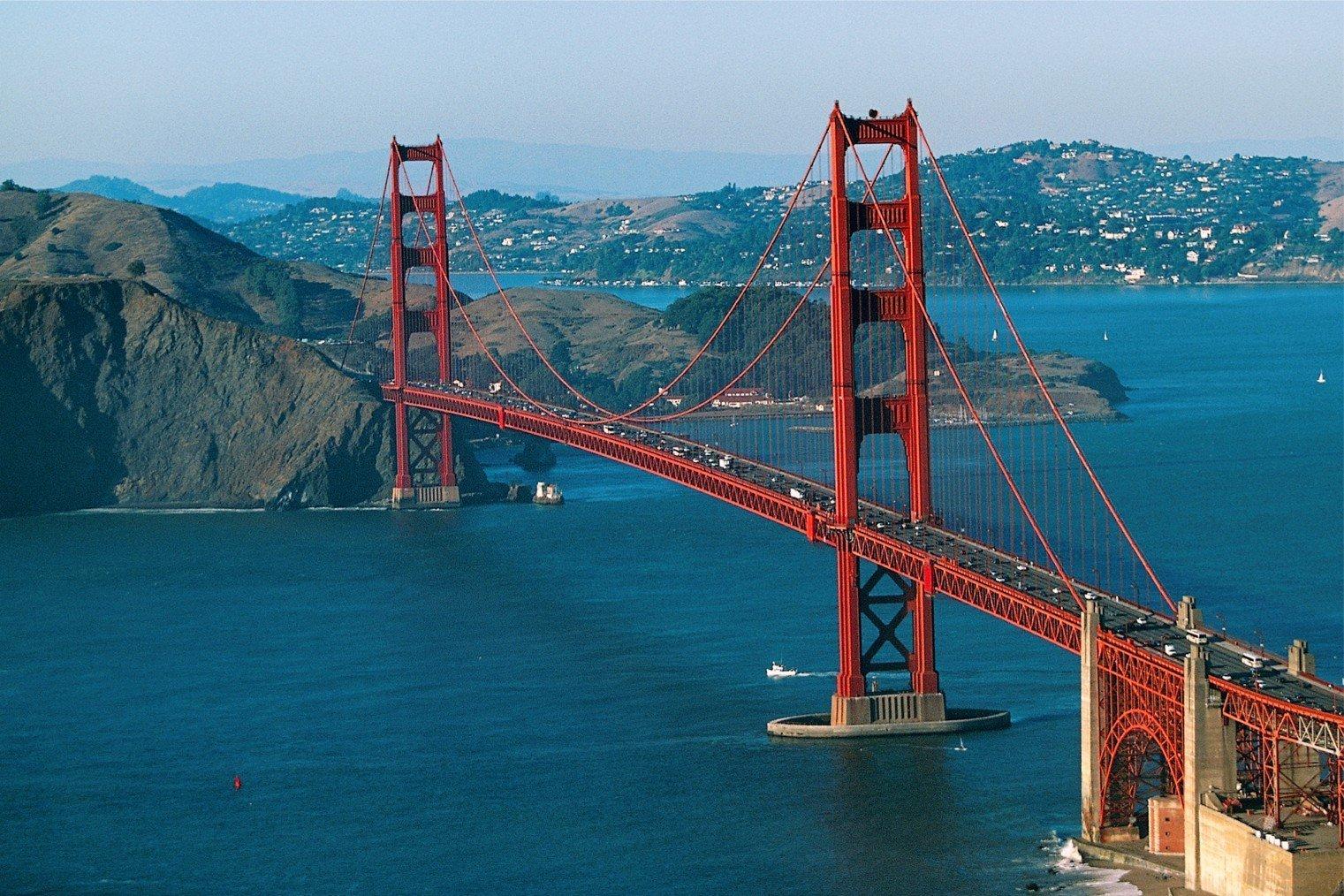 Мост Золотые Ворота. США. Туризм, информация.