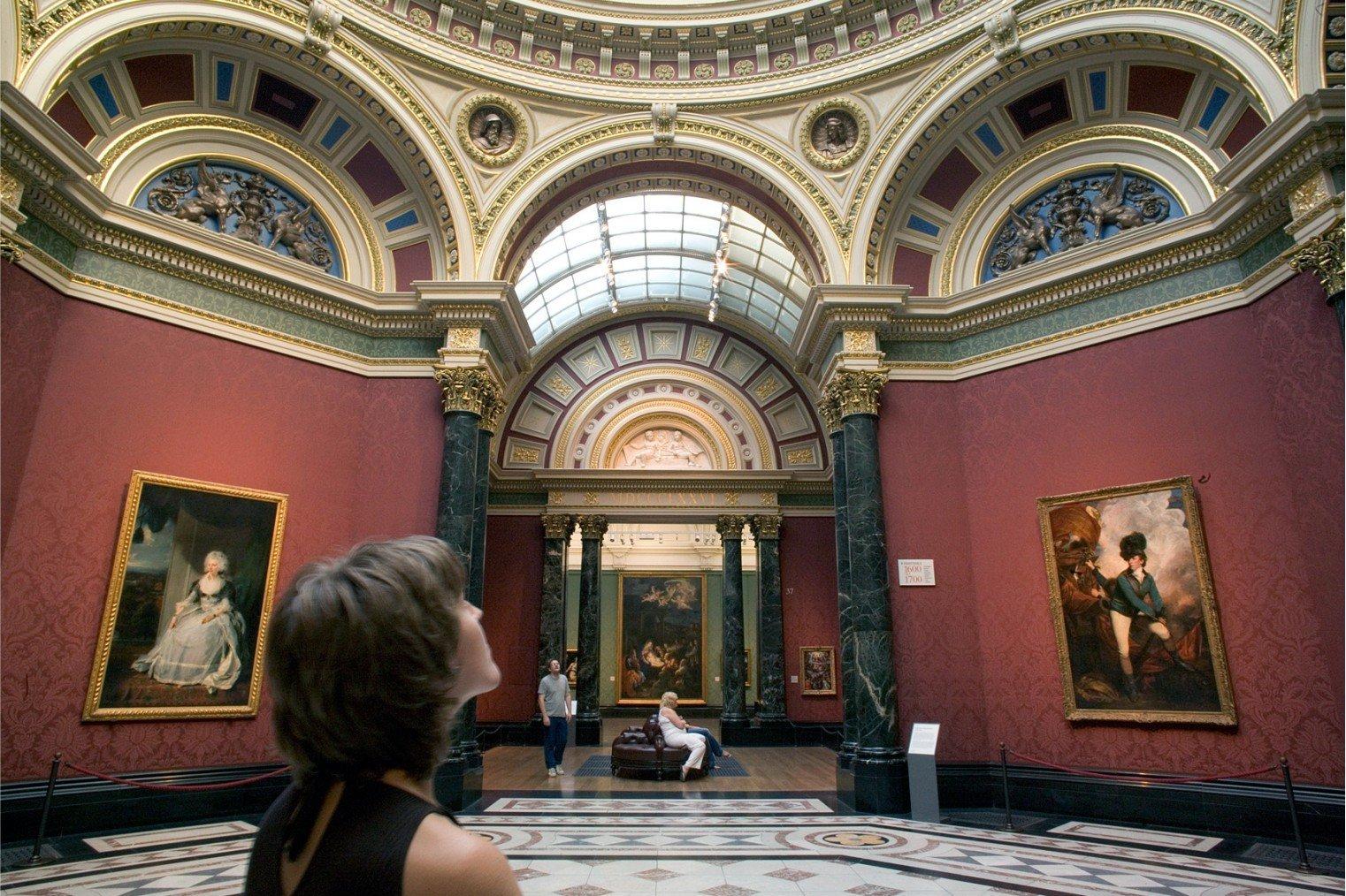 National Gallery London. Национальная Галерея, Лондон. Туризм, информация для посещения.