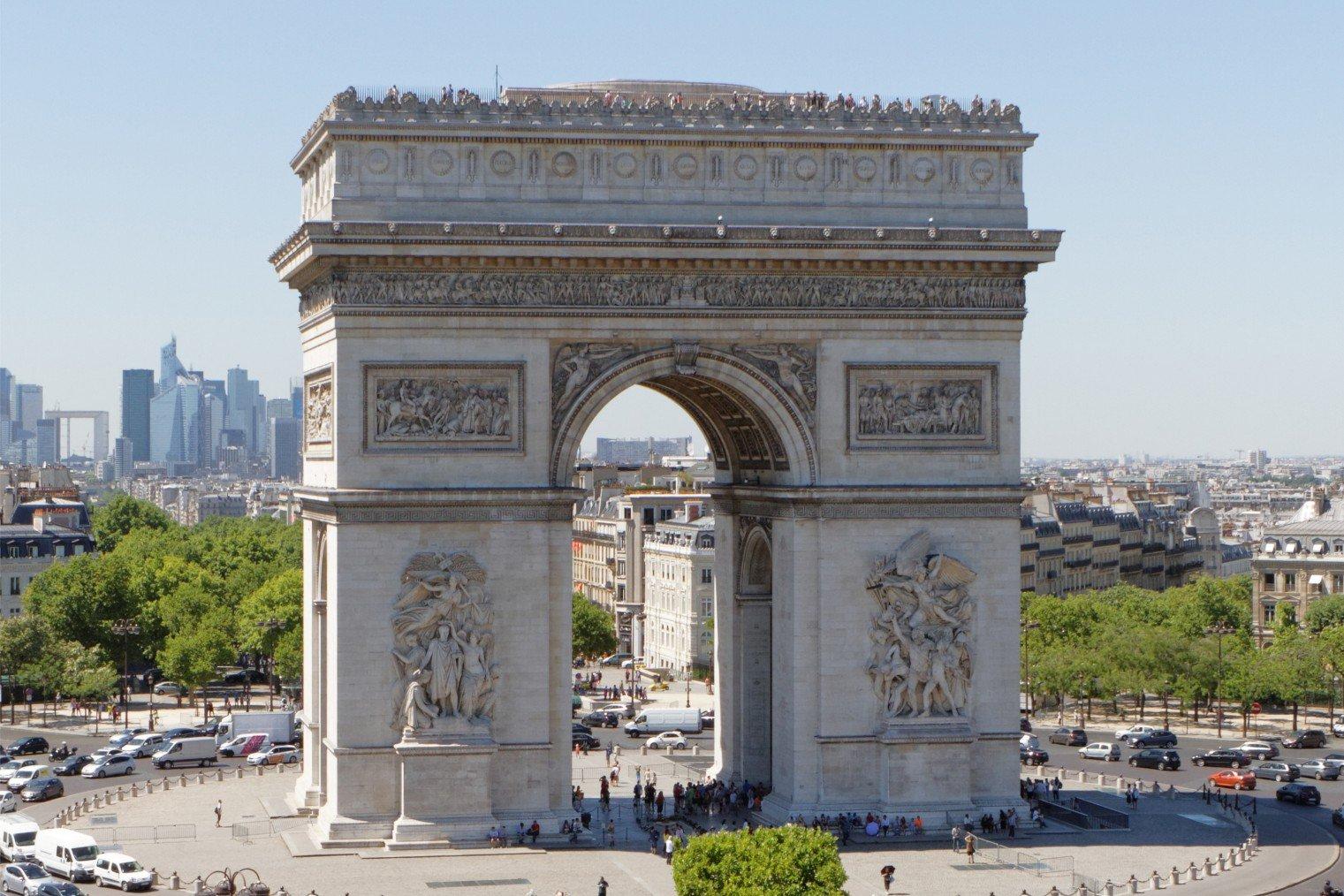 Триумфальная арка, Париж. Arc de Triomphe, Paris