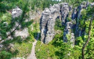 Праховские скалы, Чехия. Prachov Rocks, Czech Republic