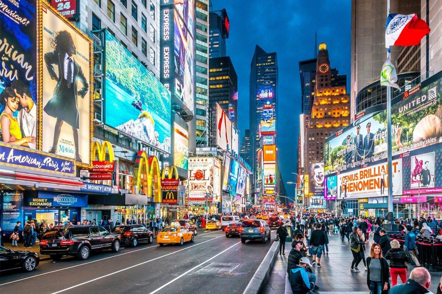 Таймс-сквер, Нью-Йорк. Times Square, New York City