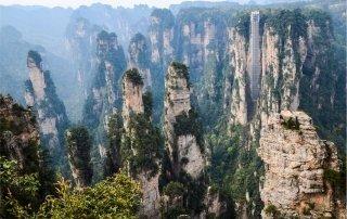 Wulingyuan. Zhangjiajie, China Улинъюань и Чжанцзяцзе.