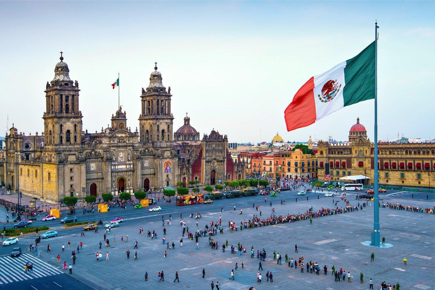 Сокало, Мексика. Zocalo, Mexico City