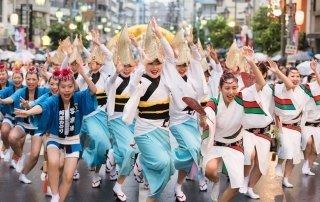 Awa Odori Dance Festival, Japan. Ава Одори танцевальный фестиваль, Токусима.