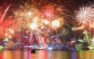 Chinese New Year, Hong Kong. Китайский Новый год в Гонконге.