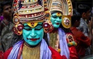 Onam, Kerala, India. Праздник Онам в Керале.