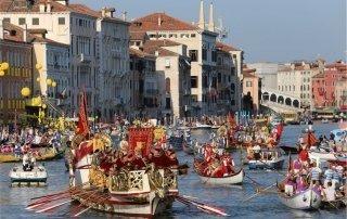 Regata Storica, Venice, Italy. Историческая регата в Венеции.