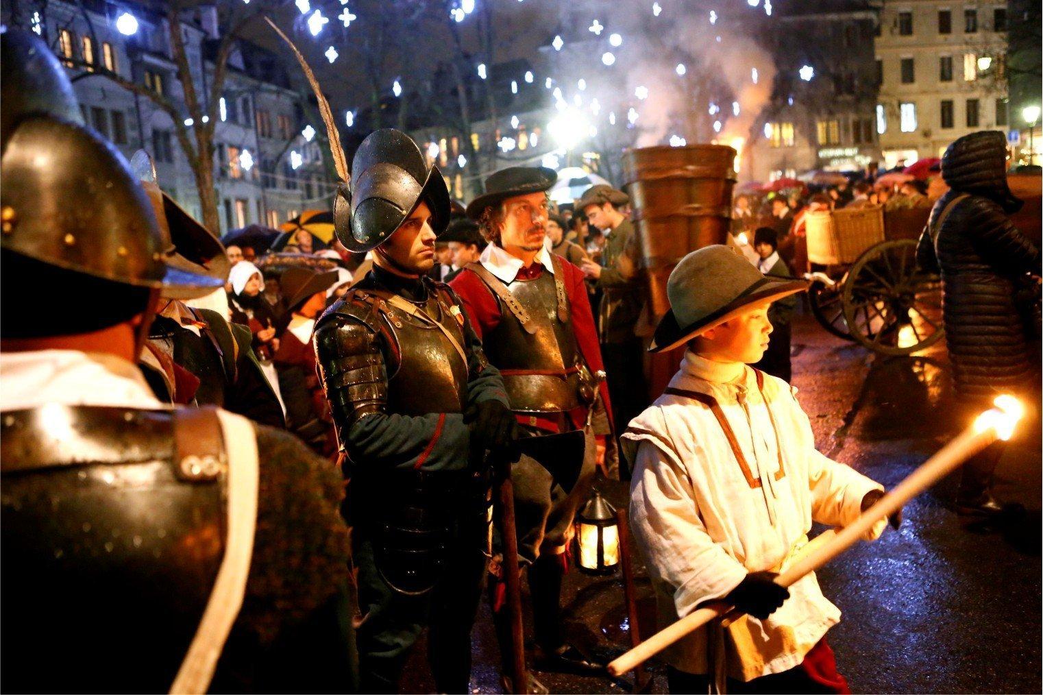 Fête de l'Escalade, Escalade Festival, Geneva. Эскалада, Женева