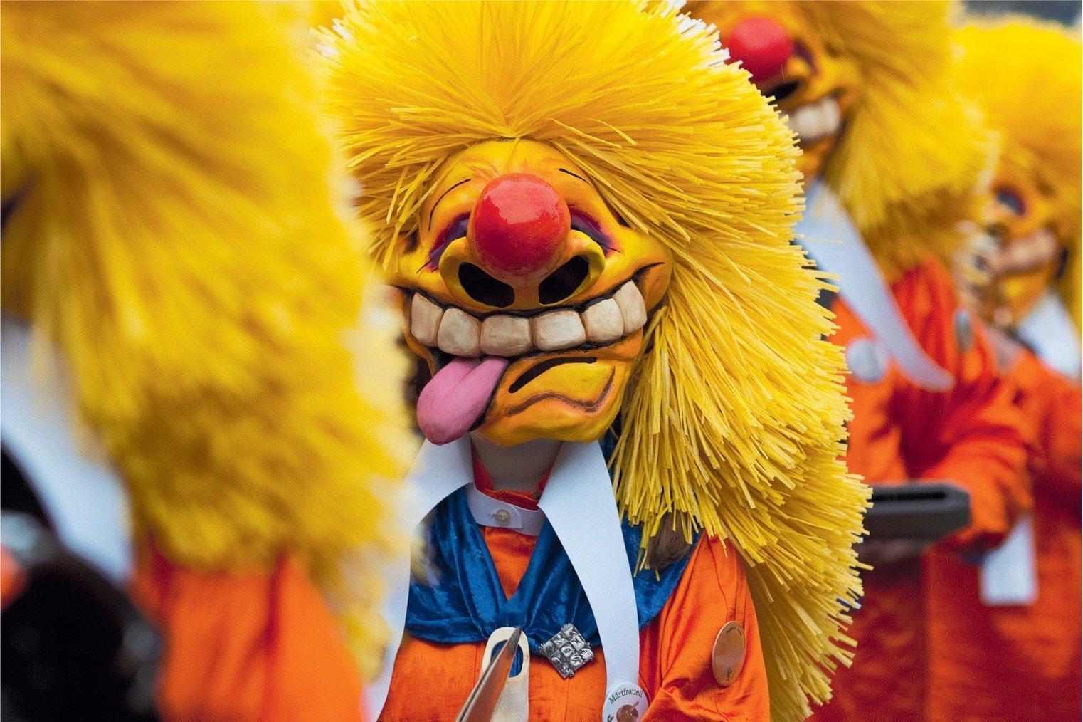 Fasnacht Carnival of Basel. Карнавал в Базеле