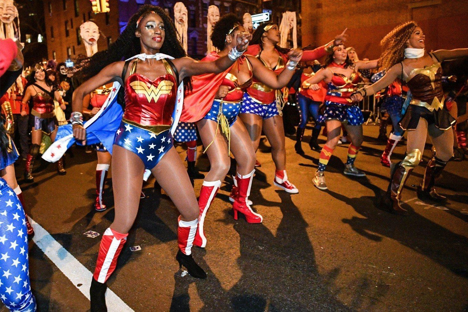 New York's Village Halloween Parade. Хэллоуин Парад, Нью-Йорк