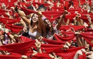 San Fermín Festival, Running of the Bulls, Pamplona. Сан-Фермин Фестиваль