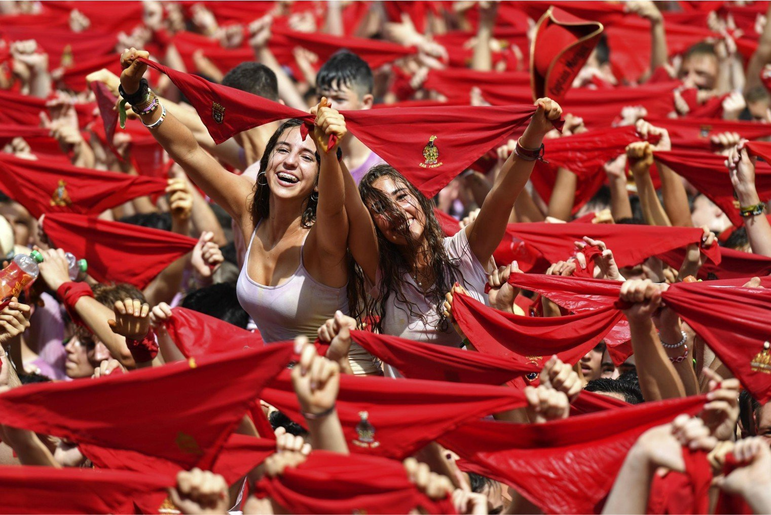 San Fermín Festival, Running of the Bulls, Pamplona. Сан-Фермин Фестиваль