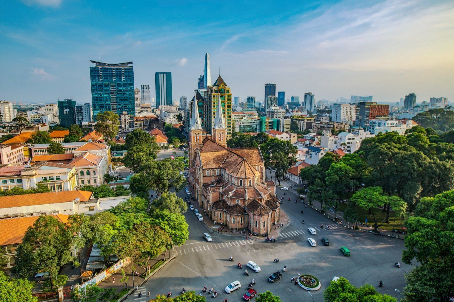 Ho Chi Minh City. Notre Dame Cathedral Basilica of Saigon. Хошимин. Сайгон