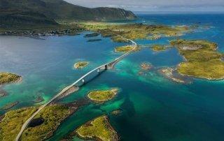 The Atlantic Road Norway. Атлантическая дорога, Норвегия