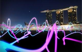 i Light Marina Bay. Singapore. Фестиваль света, Сингапур