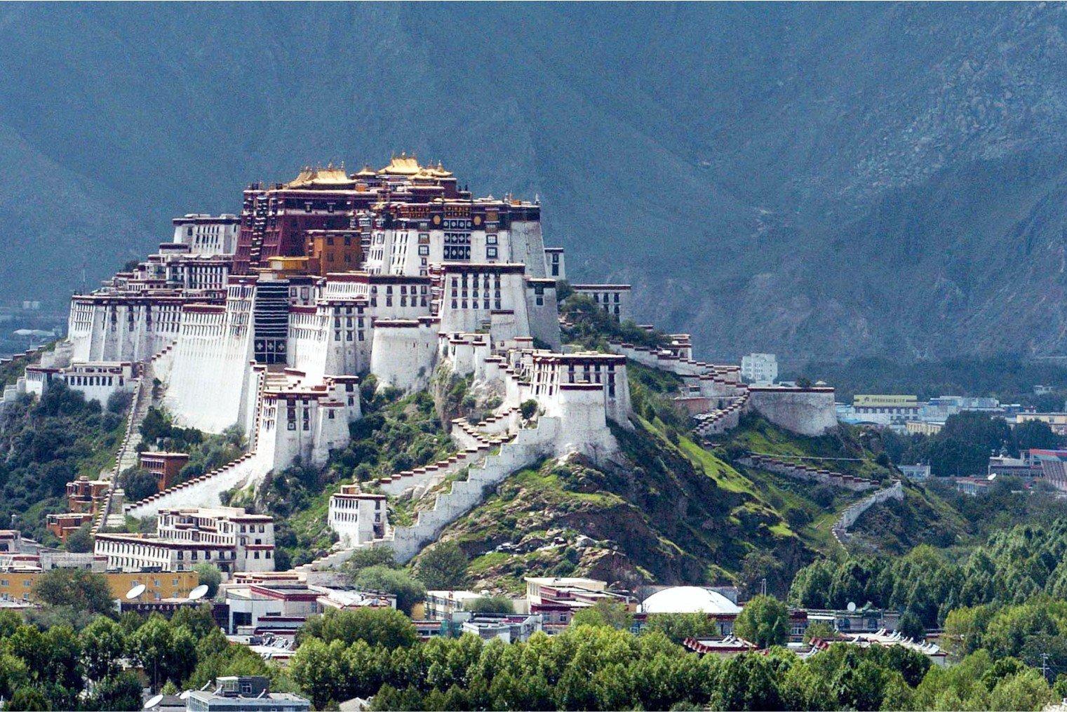 Potala Palace, Lhasa. Потала Дворец, Лхаса