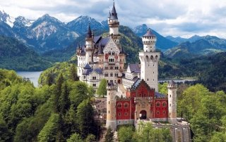Neuschwanstein castle, Germany. Замок Нойшванштайн