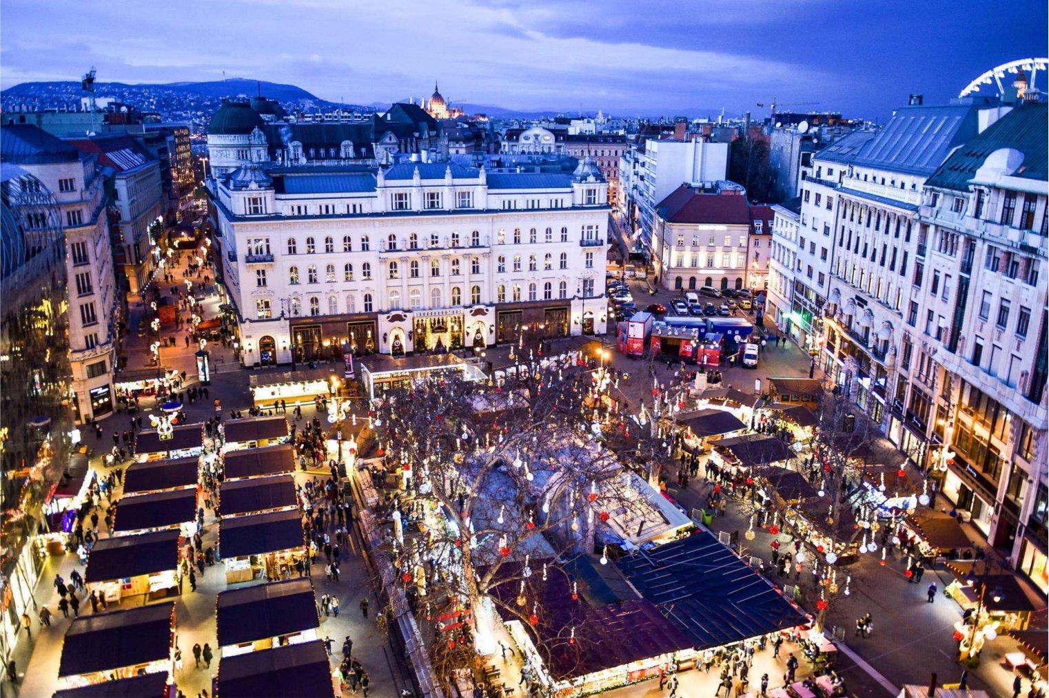 Budapest Christmas Fair. Рождественская ярмарка, Будапешт