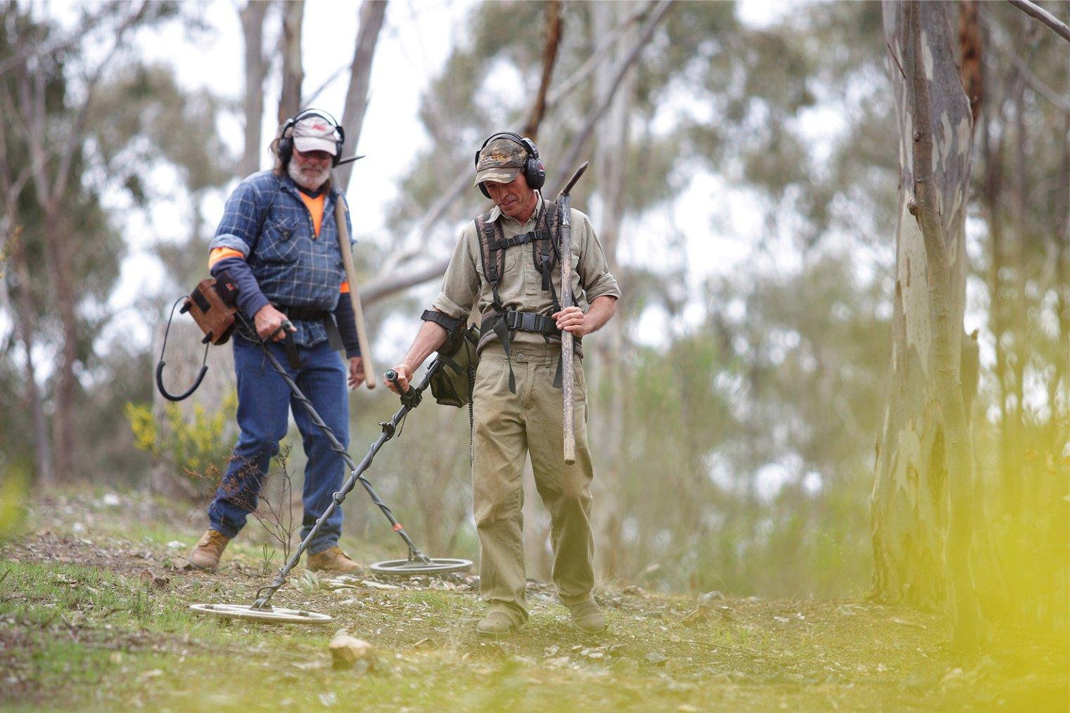 Поиск золота в Австралии.