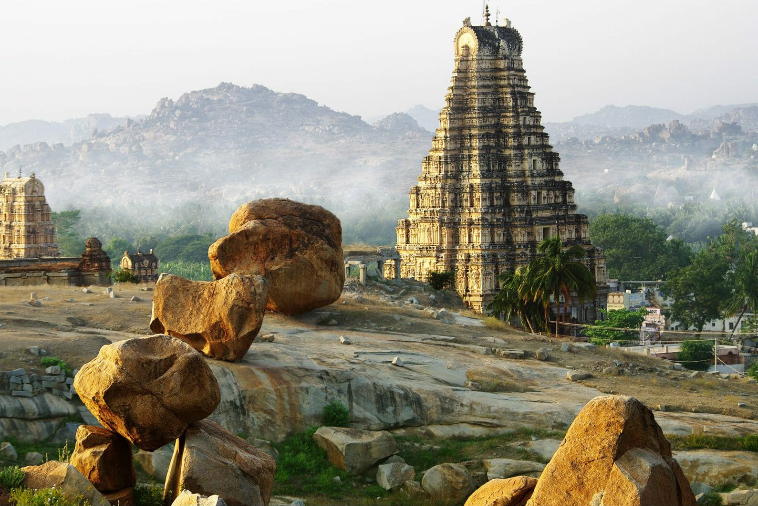 Author`s tour, Hampi.